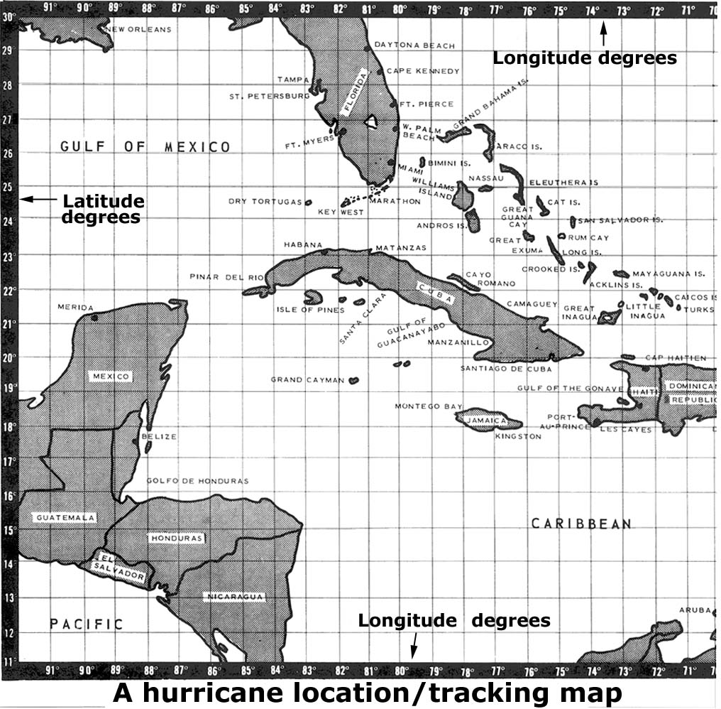 image about Hurricane Tracking Maps Printable called Anatomy of a Hurricane