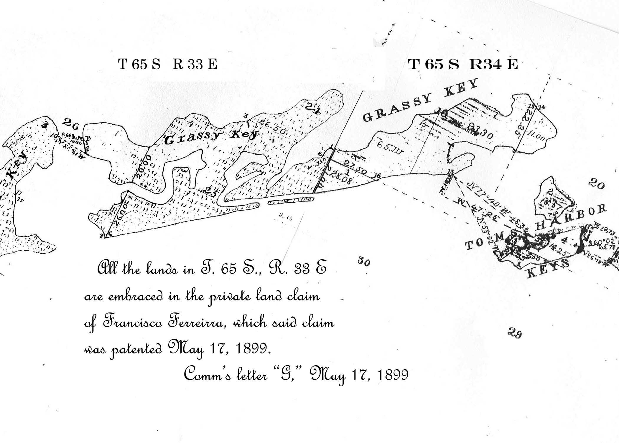 Chas. Smith's first Florida survey map 1874