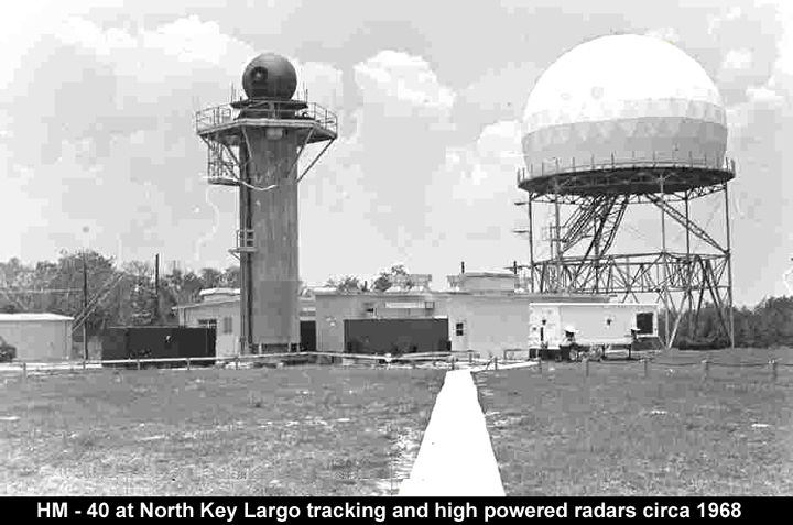 two radar towers