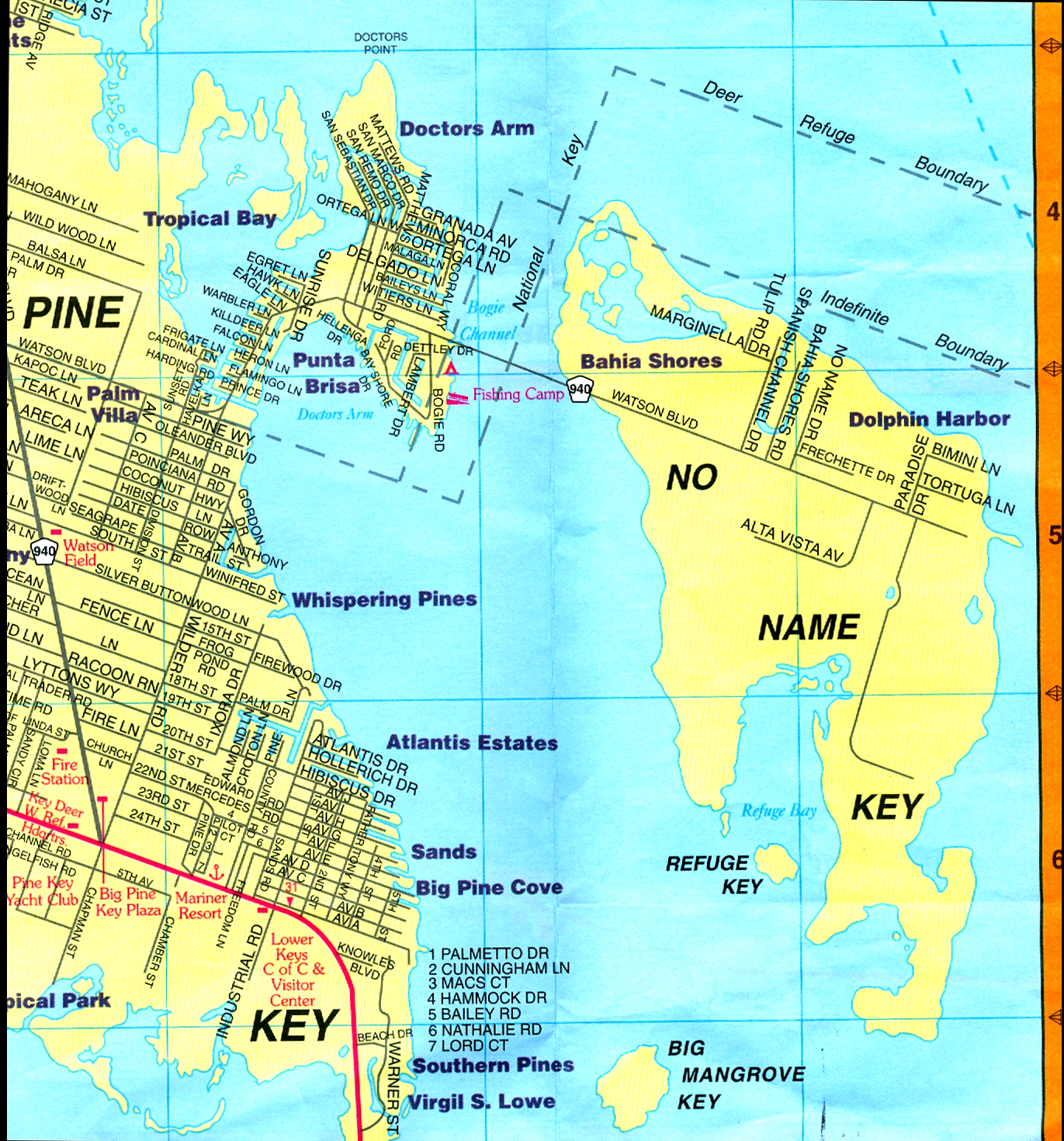 Coconut Cove Florida Map.History Of No Name Key