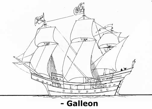 Galleon Ship Drawing | www.pixshark.com - Images Galleries
